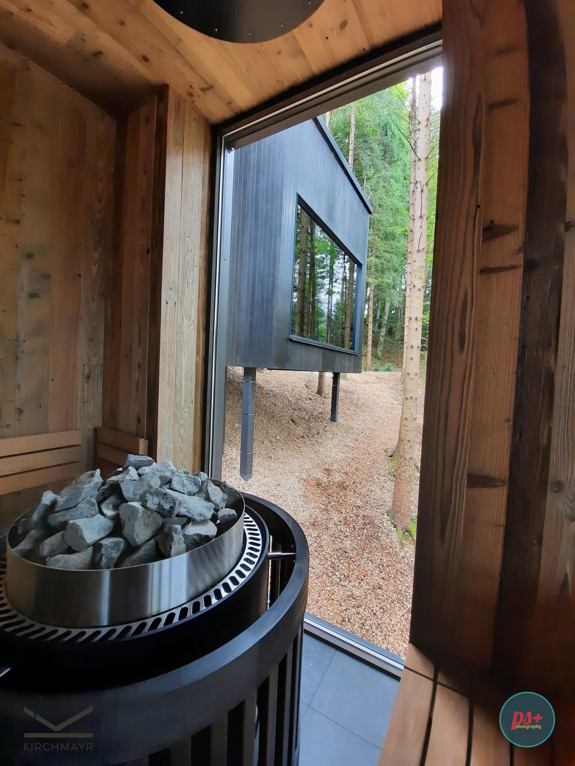Fischerwirt Sauna mit Blick nach Außen