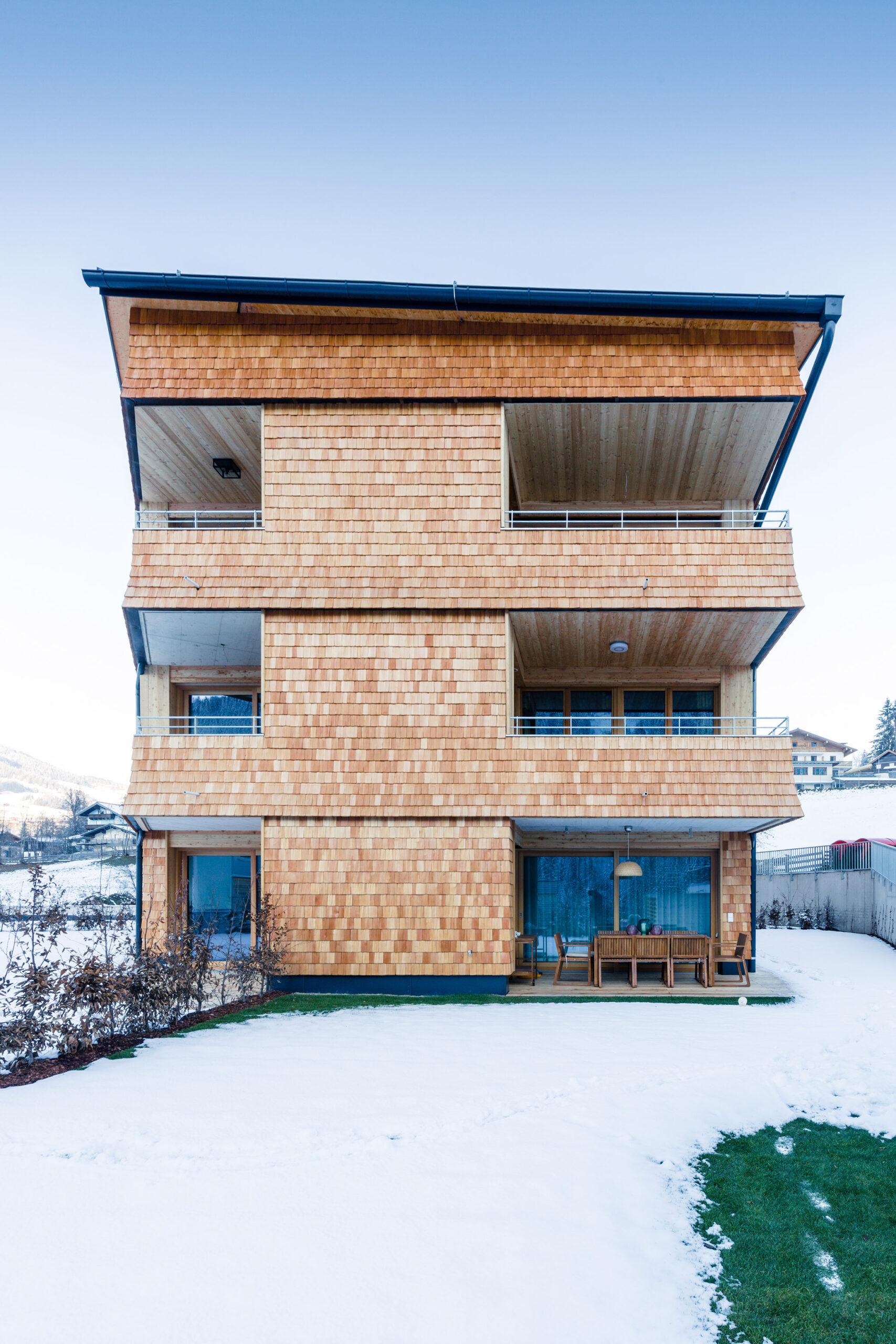 Wohnbau Haid Ansicht von hinten
