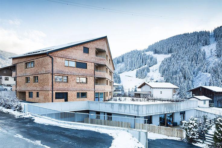 Wohnbau Haid Panorama Ansicht von der Seite
