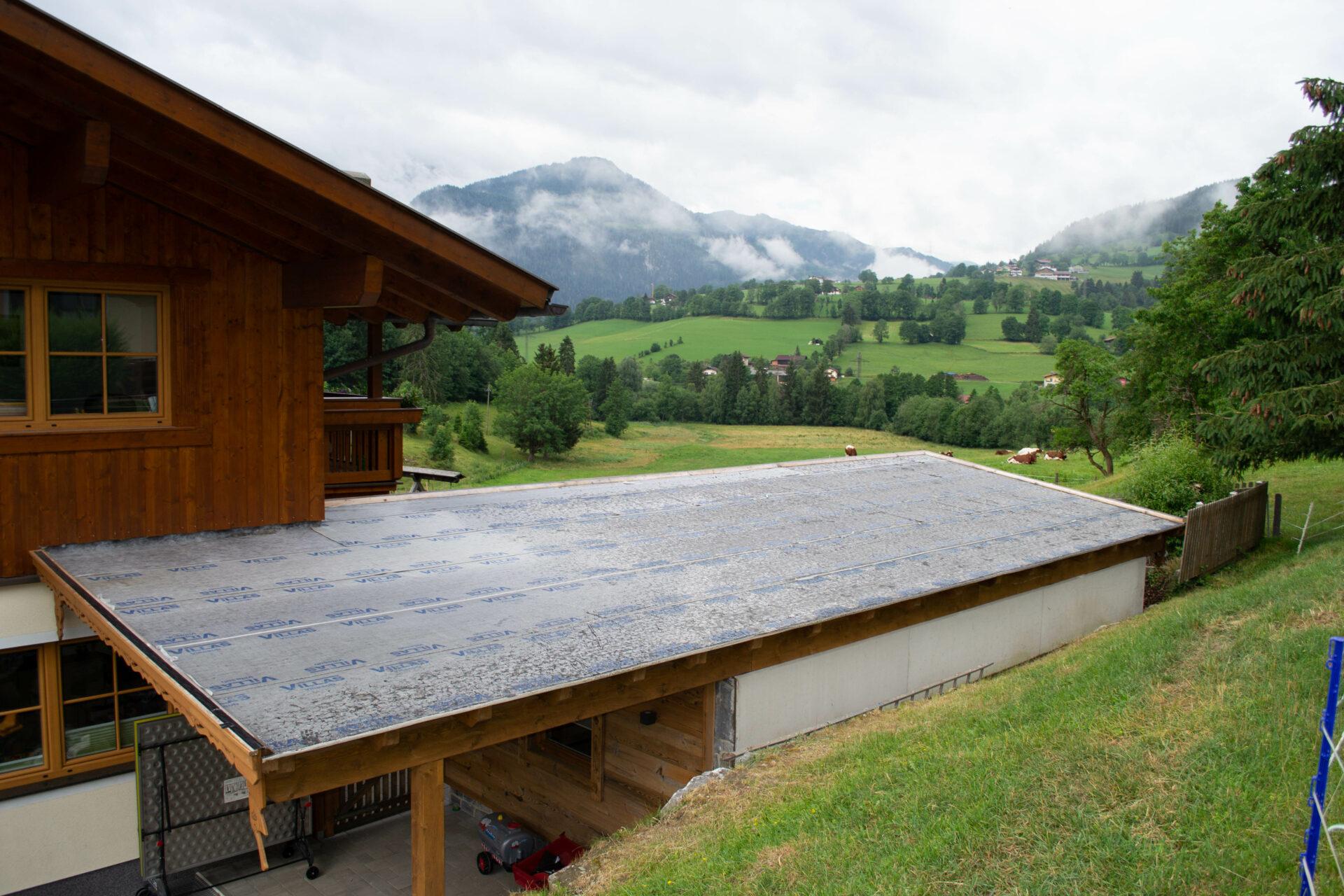 Gartenhütte-Dach